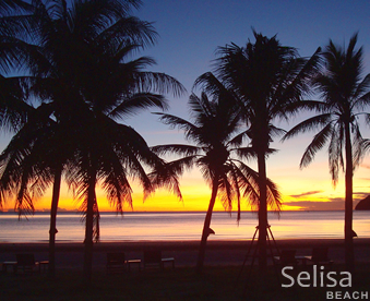 Sunset at Selisa beach