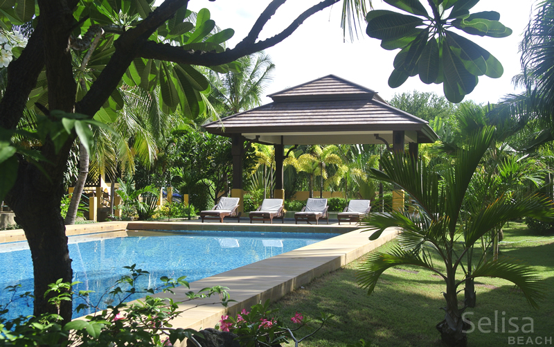 Swimming pool in garden, Selisa beach