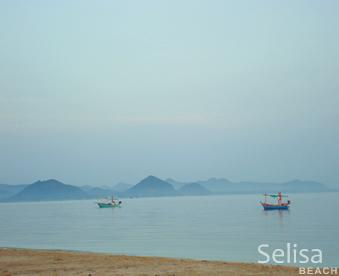 Selisa beach at the National Park Sam Roi Yot